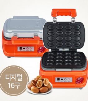 원스커피콩빵기계 디지털 16구/반죽 별매/사은품